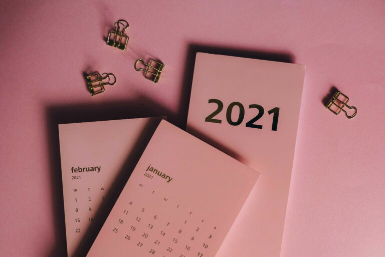 List of the months 2021 with days