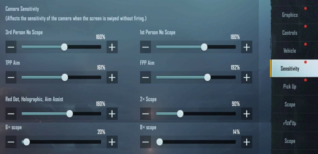 BGMI Best Sensitivity Settings For Android